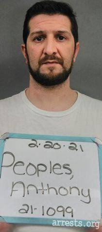 Anthony Peeples Arrest Photo